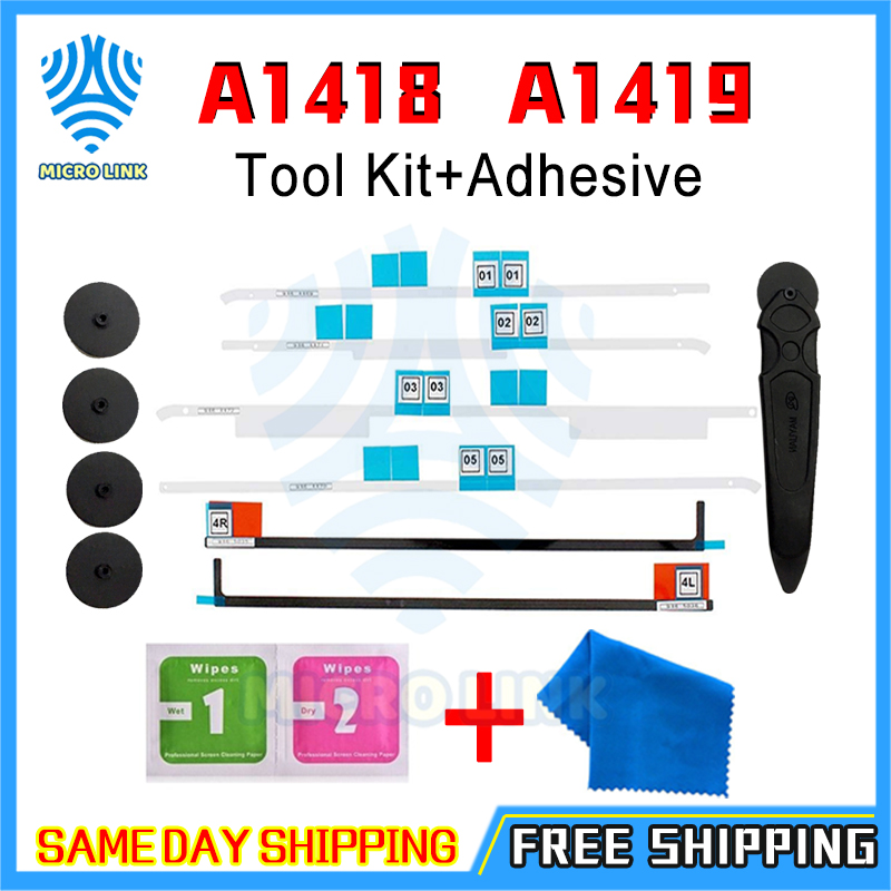 LCD Display Adhesive Strips Tape Open Wheel Repair Tools Kit For IMac A1418 A1419 21.5