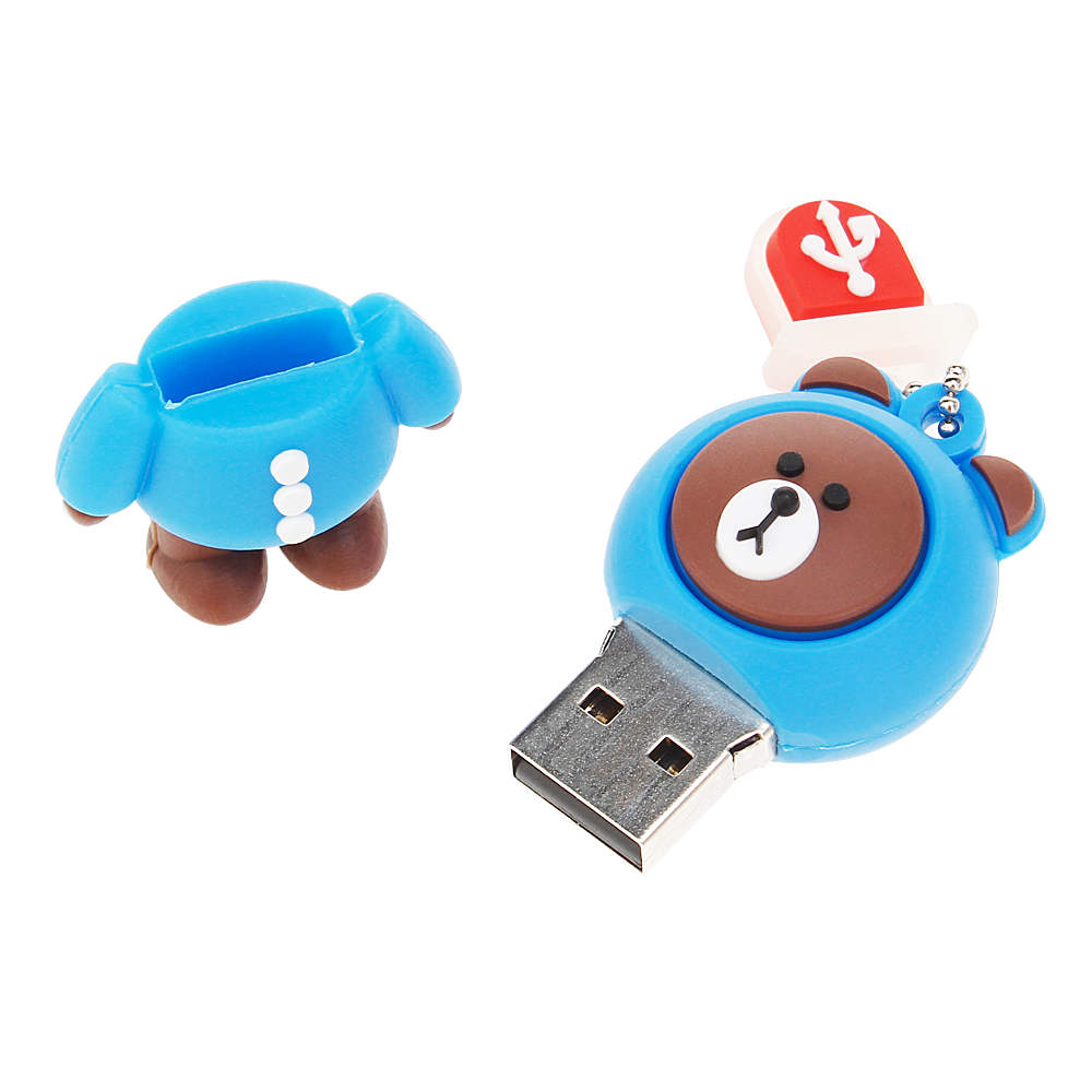 New Rilakkuma Bear pen drive 4GB 8GB 16GB 32GB 64GB 128GB usb flash drive pendrive Cartoon USB 2.0 Memory Stick Bear Brown Gifts (6)