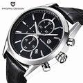Pagani design clássico relógios relógios dos homens novos de moda casual pulseira de couro e pulseira de aço inoxidável homens de negócios (cx-2513c)