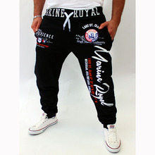 2017 men's New style Lounge pants Popular letters printing Leisure Fashion Fitness Workout Pants Sweatpants Trousers clothes XXL
