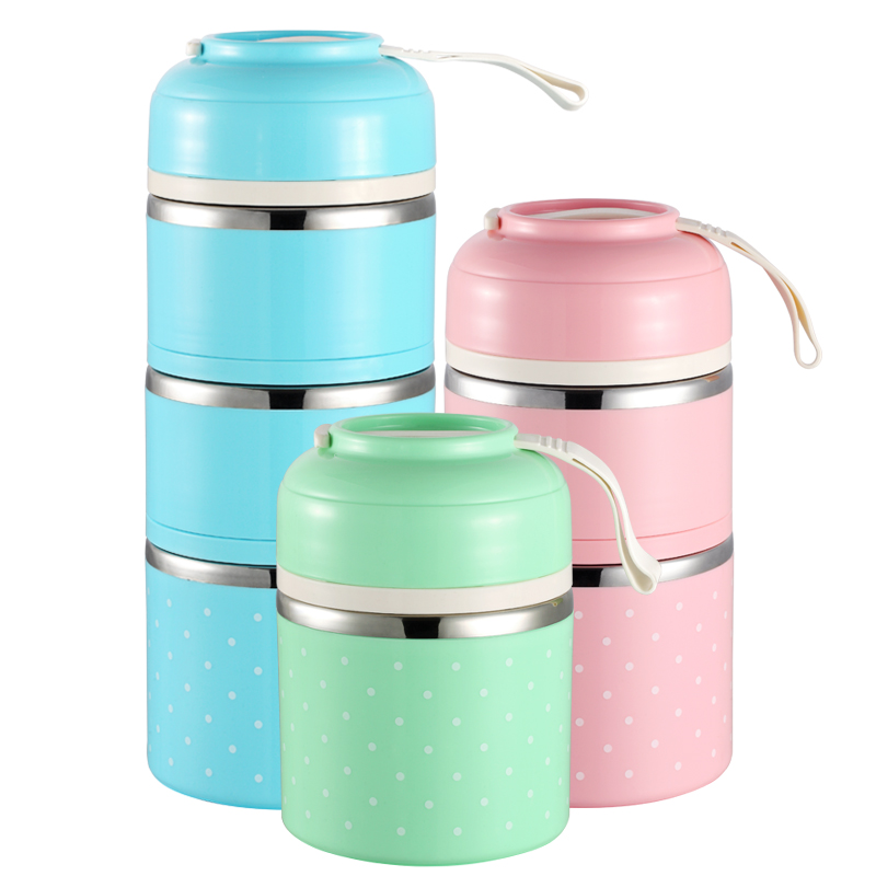 2018 Drop Shipping School Food Container Japanese Thermal Lunch Box Leak-Proof Kids Portable Picnic Stainless Steel Bento Box