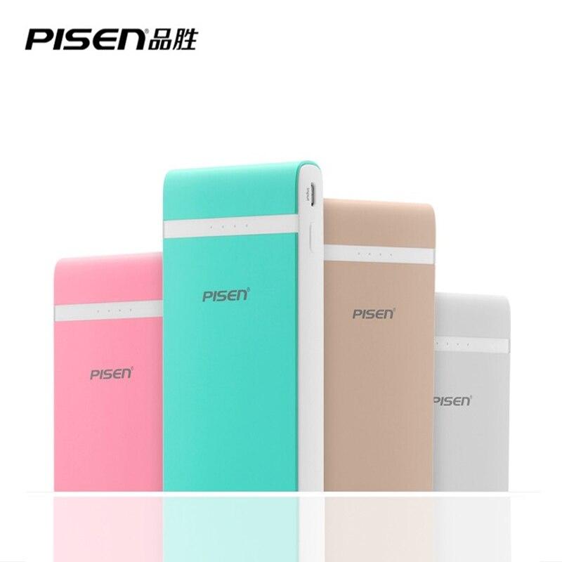 imágenes para PISEN multicolor Batería protable Portátil PowerBank 10000 mAh Bateador Polímero Powerbank Cargador Rápido para el iphone 6 Xiaomi huawei
