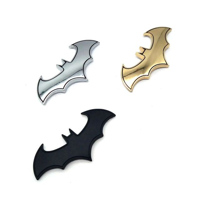 youe shone 3D Car Stickers Cool Bat Metal Auto Logo Batman Badge Emblem Tail Decals Auto Decoration Accessories