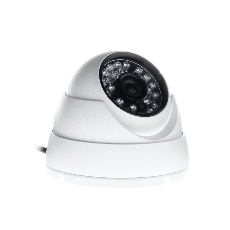 Free Shipping White Metal CCD Sony Camera IR Night Vision Indoor Camera With 4 Pin For Vehicle Analog Car Camera DC12v