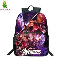 16 Cal torby szkolne dla dziewcząt chłopiec Avengers dzieci plecaki przedszkole codziennie Plecak podróżny dzieci Plecak Plecak Szkolny 4