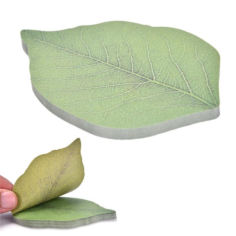 Cute Green Leaf Memo Pad Sticky Note Diy Kawaii Paper Sticker Pads Korean Fall Kraft Memos Planner Stationery