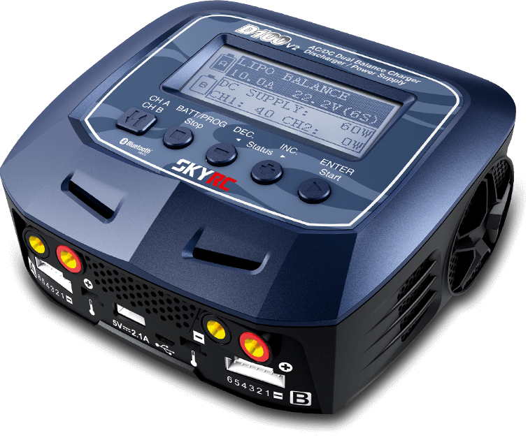 D100 V2 AC / DC Dual Balance Charger Discharger / Power Supply US / EU Plug for LiPo/ LiFe/ LiIon/ LiHV/ NiMH/ NiCd/ Pb Battery