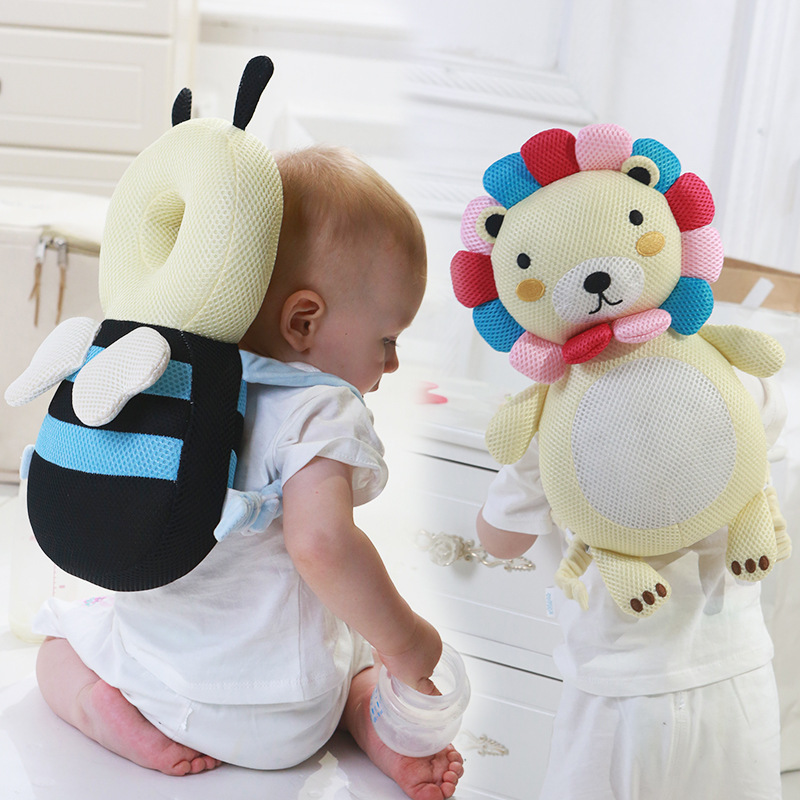 Baby Safety Cartoon Plush Pillow Infant Toddler Anti Fall Cushion Kids Sleep Head Pillow Protection Newborn Baby Head Protector