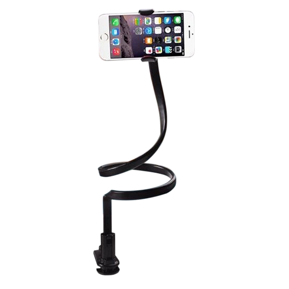 360 Вращающийся Универсальный Ленивый мобильный телефон клип держатель палка для селфи стол кровать подставка для iPhone 5S 6 Plus 5.5 Samsung andriod Black