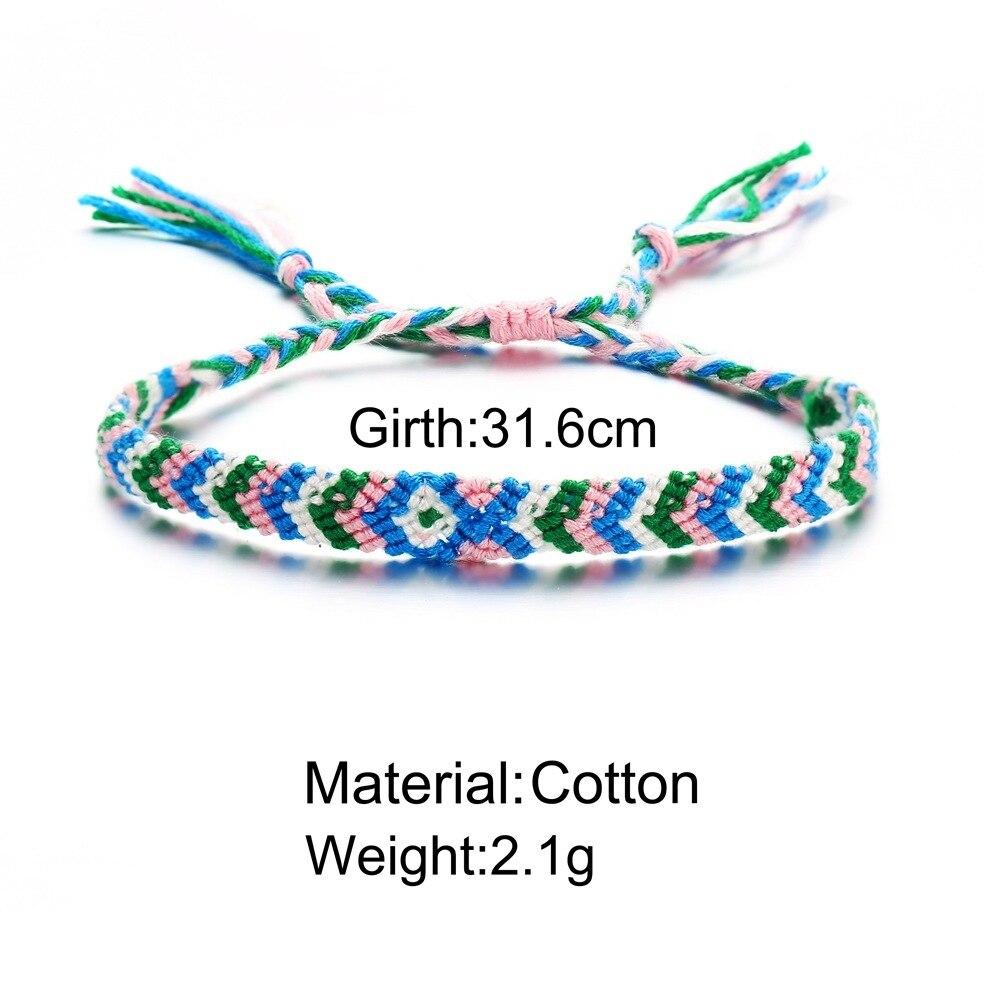 Bohemia Handmade Colorful Cotton Anklet Bracelet Female 2020 Summer Beach Sandal Leg Bracelet Vintage Rope String Ankle Bracelet 2
