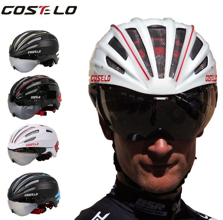 Costelo Vélo Casque 4 Couleurs VTT de Montagne Vélo De Route Casque Vélo Casque Casco Vitesse Airo RS Ciclismo Lunettes Bicicleta