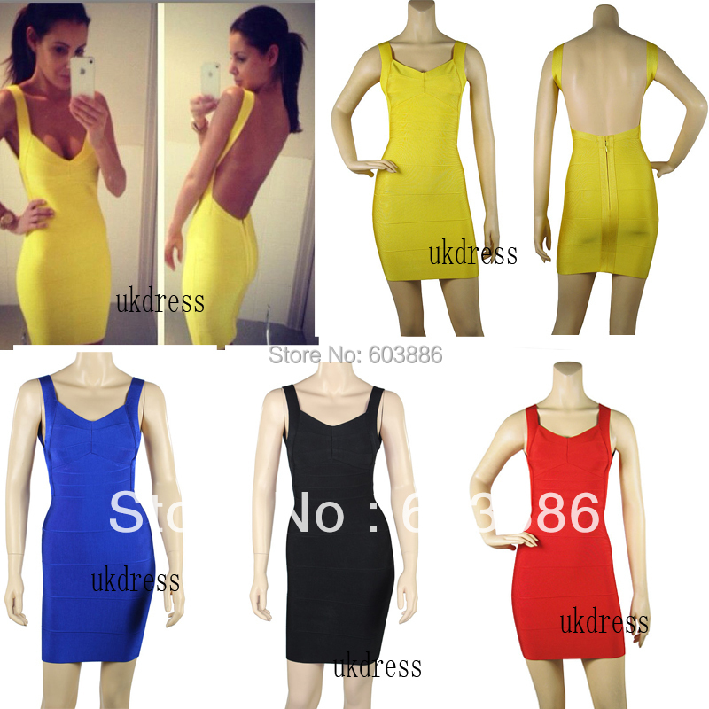 Free Shipping Backless Bandage font b Dress b font Bodycon font b Dress b font font