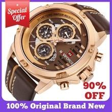 NAVIFORCE Mens Watches Top Brand Luxury 3Bar Waterproof Date Quartz Watch Man Leather Sport Wrist Watch Men Waterproof Clock