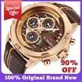 NAVIFORCE relojes para hombre marca superior de lujo 3Bar resistente al agua fecha reloj de cuarzo hombre cuero deporte reloj de pulsera hombre reloj impermeable