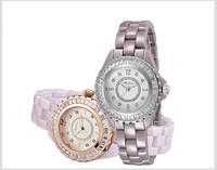 100 Full Ceramic Bracelet Watch Anti Allergy Wrist Watch Elegant Women Crystal Dress Watches MELISSA Quartz