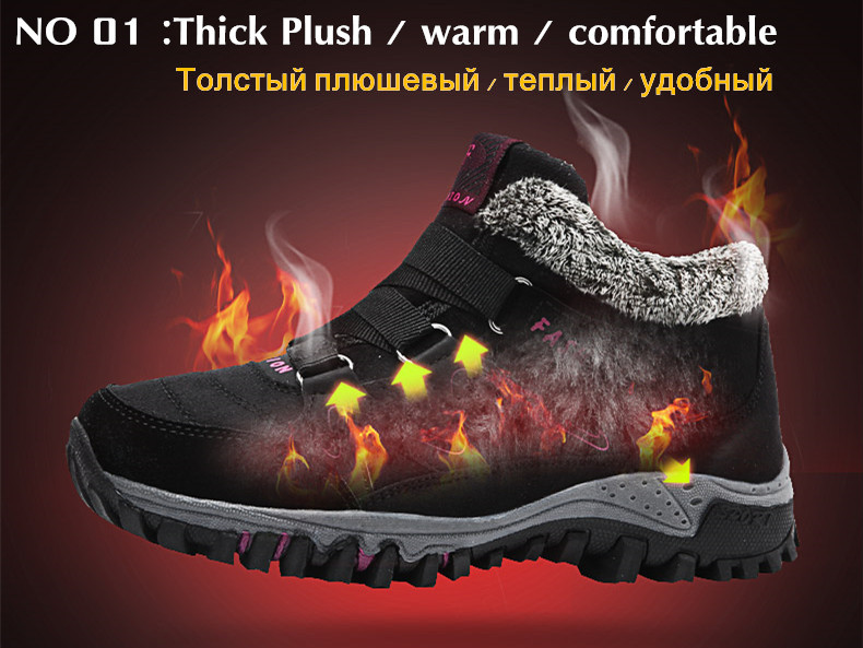 STS BRAND 2019 New Winter Ankle Boots Women Snow Boots Warm Plush Platform Boot Fashion Female Wedge Shoes Snow Waterproof shoes (2)