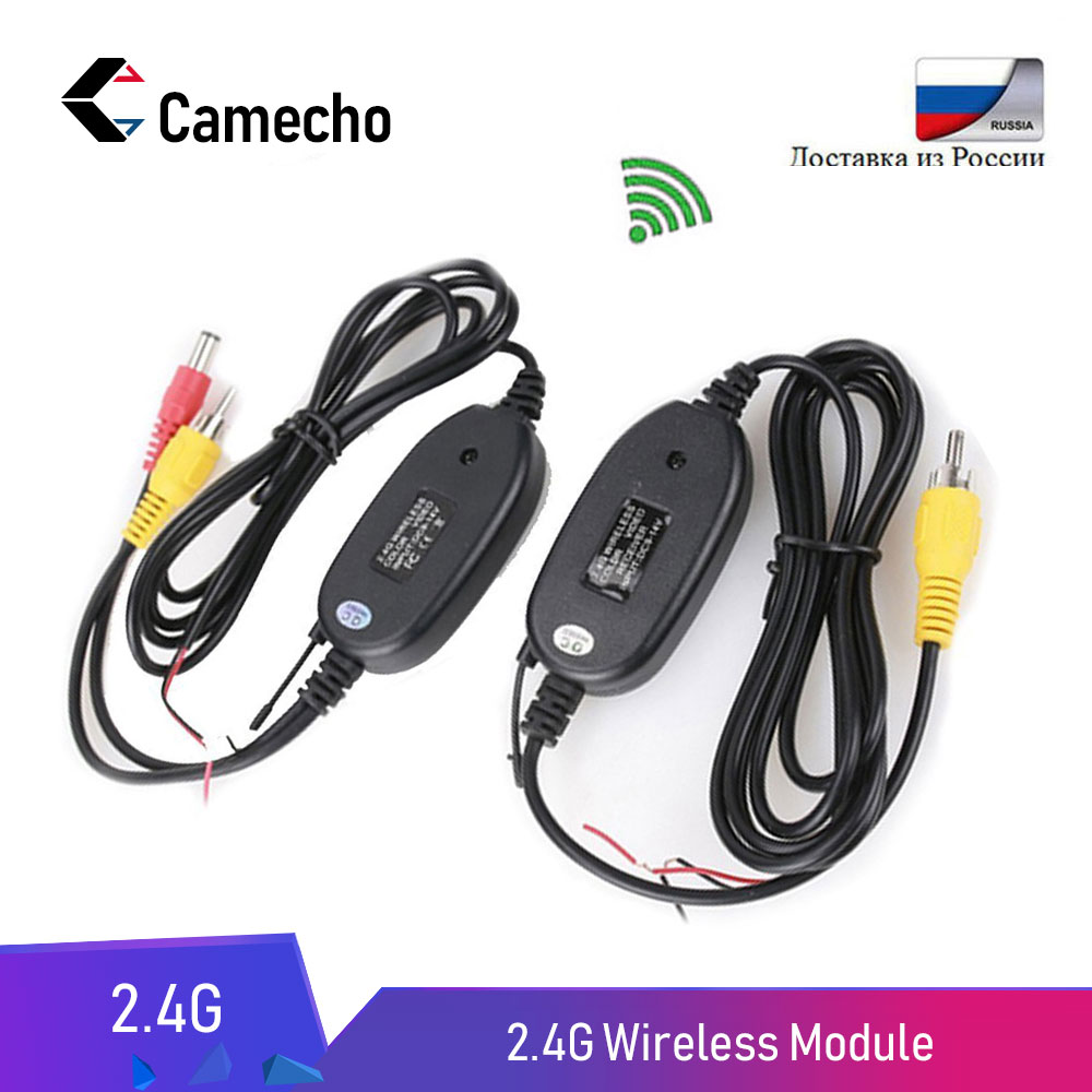 Camecho 2.4Ghz Wireless RCA Video Transmitter & Receiver Kit Rear View Camera For Car Rearview Monitor FM Transmitter & Receiver