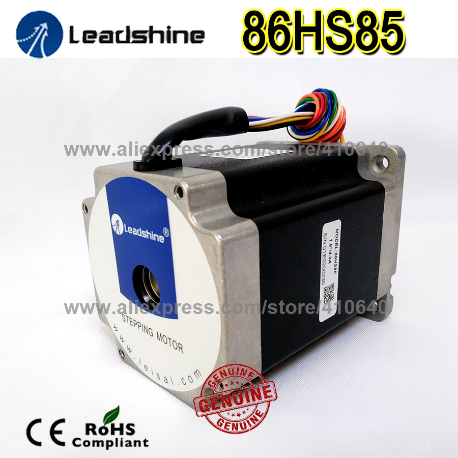 1 Piece GENUINE Leadshine 86HS85 2 Phase NEMA 34 Hybrid Stepper Motor with 6 N.m 4.9 A length 118 mm shaft 12.7 mm-in Stepper Motor from Home Improvement    1