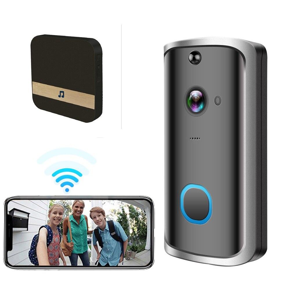 1080P Smart Video Doorbell Camera WiFi Wireless Video Deurbel Visual Recording IR Alarm Wireless Home Security Monitoring