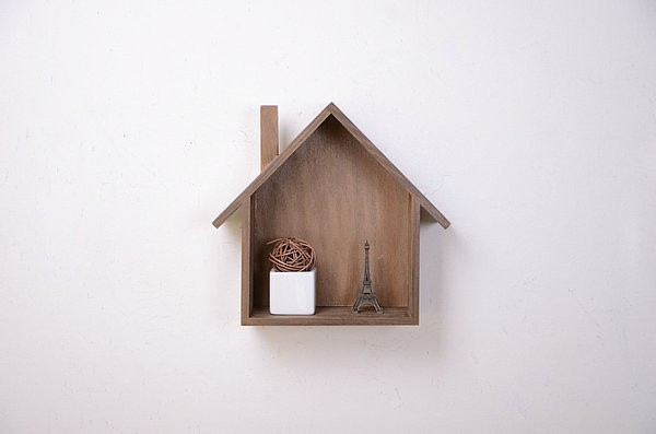 Zakka wooden box bird house model house storage box home decor craft accessories box wood free
