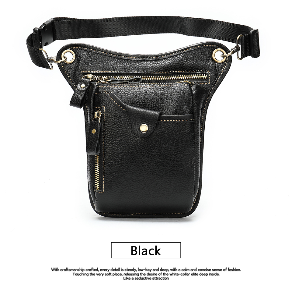 HTB1s.locBWD3KVjSZFsq6AqkpXaA - WESTAL men's belt bag leather leg bag male fanny pack waist bags men tactical phone pack fashion leather motorcycle bags for men