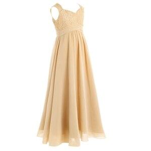 Image 3 - 4 14Years tuổi Trẻ Cô Gái Hoa Voan Ren Ăn Mặc cho Bữa Tiệc và Phù Dâu Đám Cưới Một shoulder Dress Prom Trang Phục Chính Thức Maxi ăn mặc