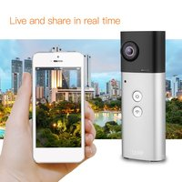 360 Degree Camera VR Camera Panoramic View Wifi Dual Lenses Spherical Video Image Real Time Seamless Recorder 8MP