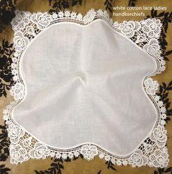 12PCS/Lot Fashion Women Handkerchiefs 12sx12Cotton Wedding Handkerchief Embroidered vintage Lace Edges Hankies Hanky For bride