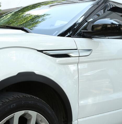 ABS Chrome для Land Rover Range Evoque 2012 + кузова сбоку air защитное устройство выходного отверстия панель Крышка отделка стайлинга автомобилей
