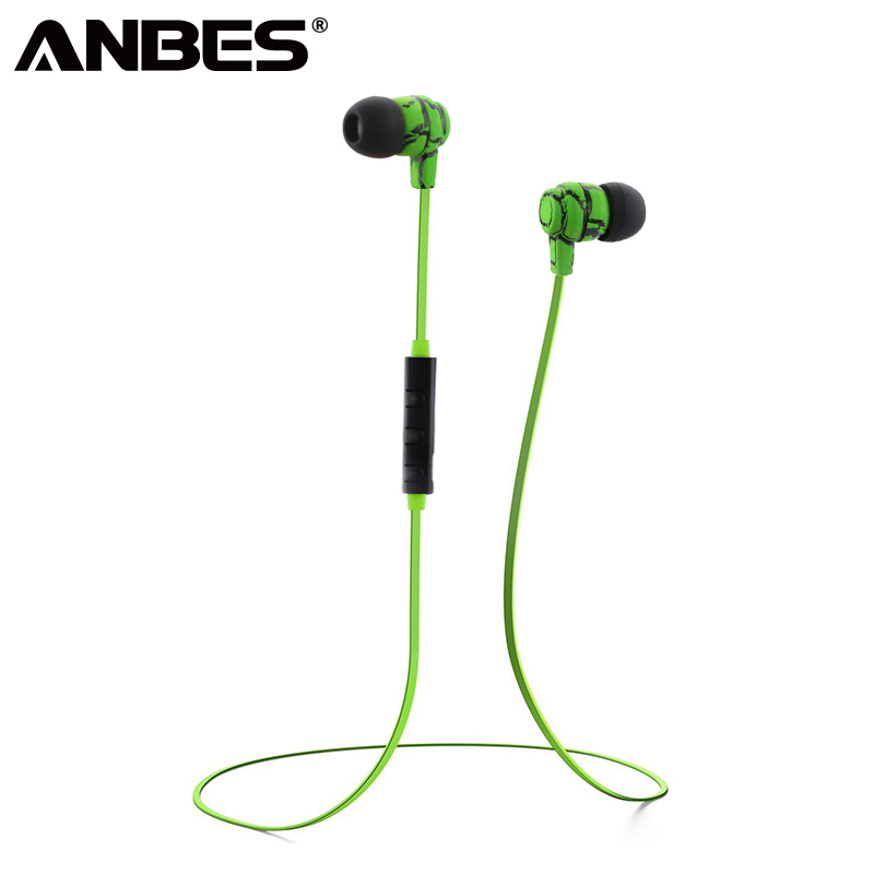 ANBES Bluetooth Earphones Sport Wireless Crack Headphone Stereo Super Bass Headset Earbu ...