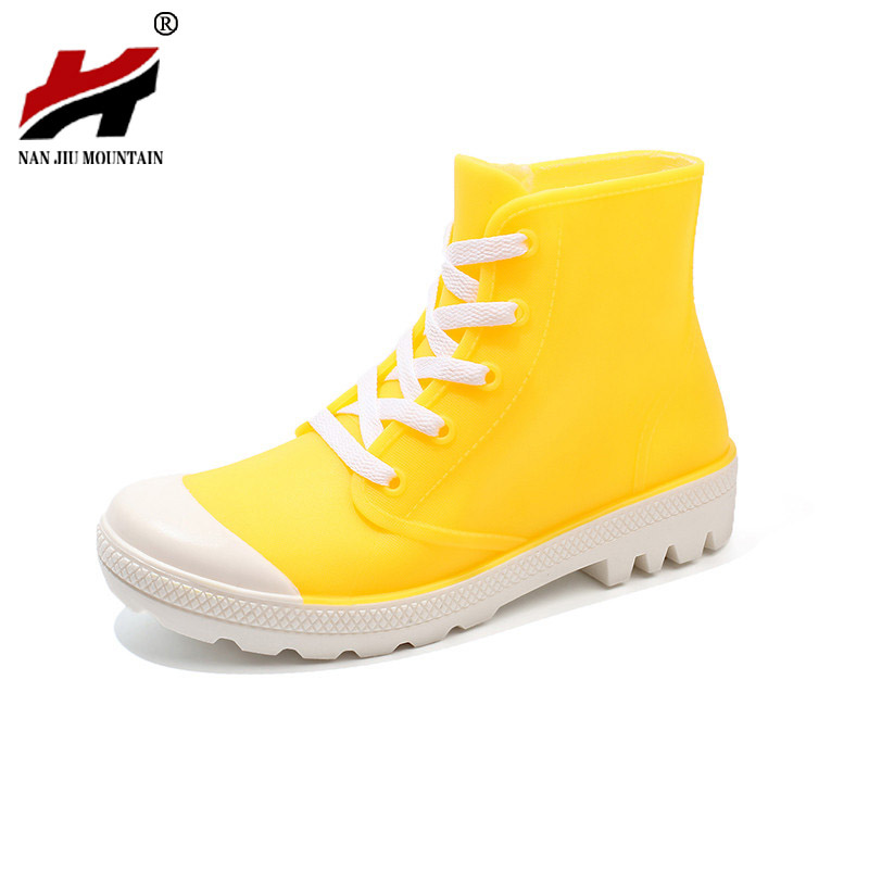 Shoes Spring And Summer Men Short Tube Rain Boots Ankle Rubber Boot Elastic Band Non-slip Waterproof Rainday Water Shoes