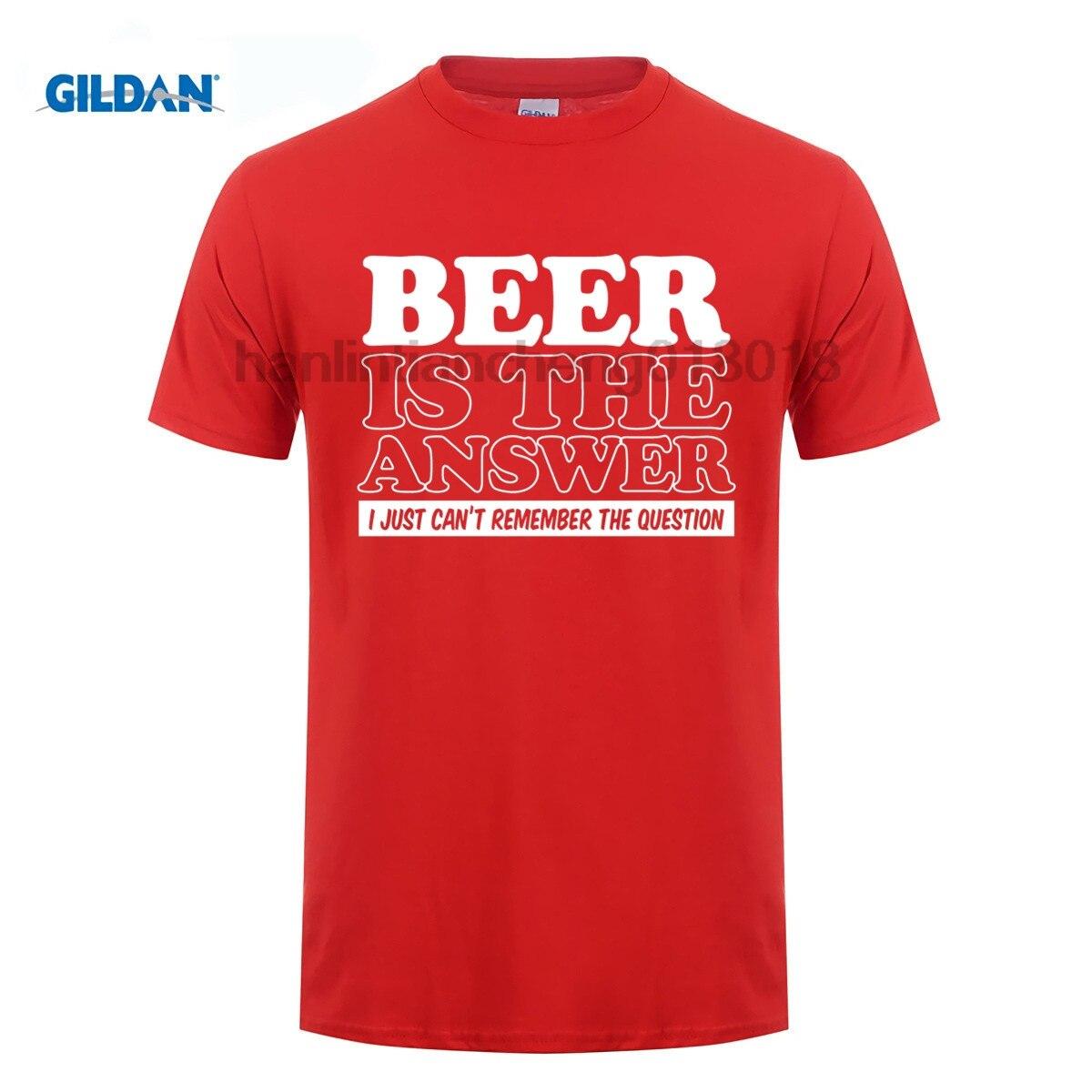 GILDAN Biere Is The Answer Drole T Shirt Pour s Papa Fete Des Peres CAMRA Real Ale Summer Style Hip Hop Men T Shirt Tops