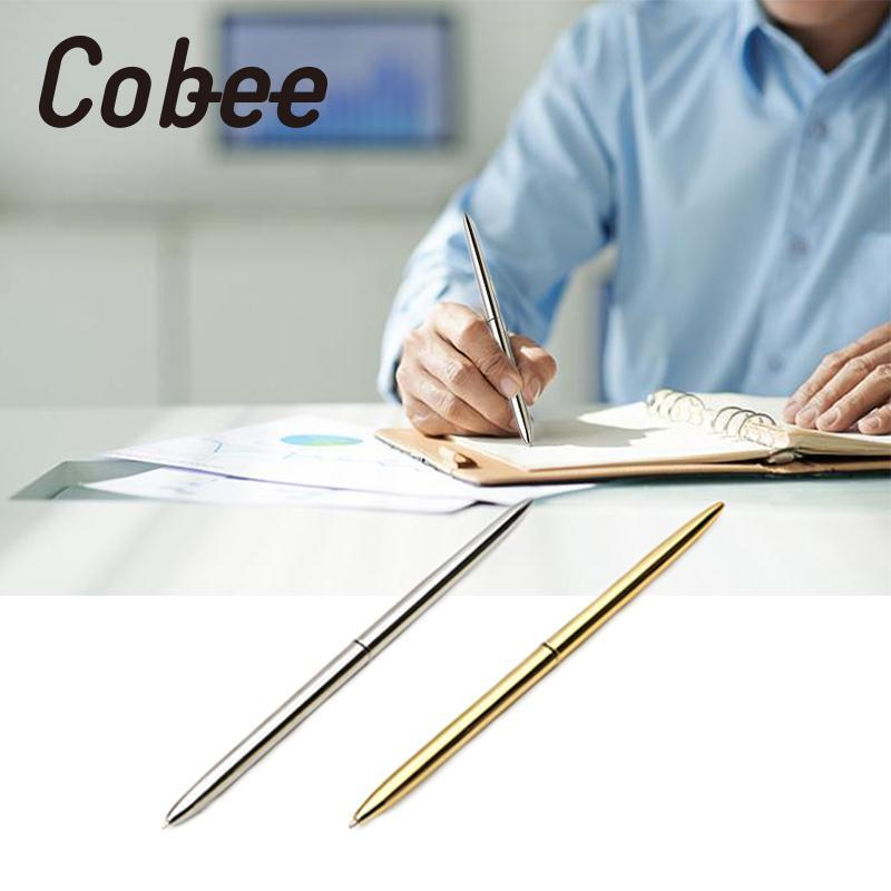 Cobee Parker Pen metal ballpoint pen Steel Metal Silver rotating Ballpoint pen Fashion Funny Office gift stationery