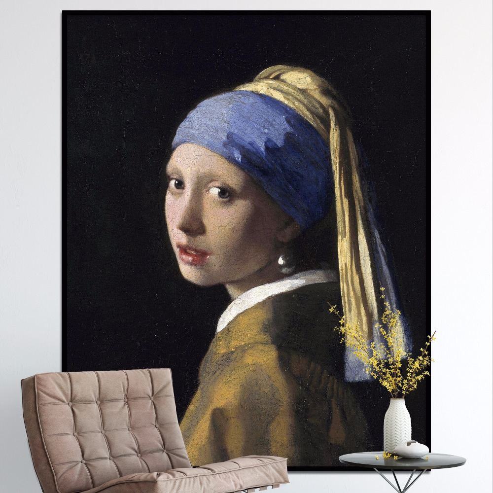 Girl With A Pearl Earring, Oil On Canvas, Painting By Johannes Vermeer,  Canvas