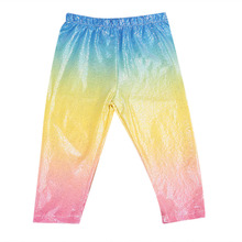 2017 New Toddler Kids Girl Colorful Gradient Pant Sequins Baby Girls Legging Trousers Outfits Clothes