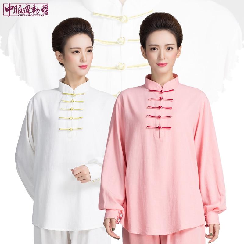 New Pattern Long Sleeve Tai Chi Uniform Woman Martial Art Clothing 6 Colors Kung Fu Clothes