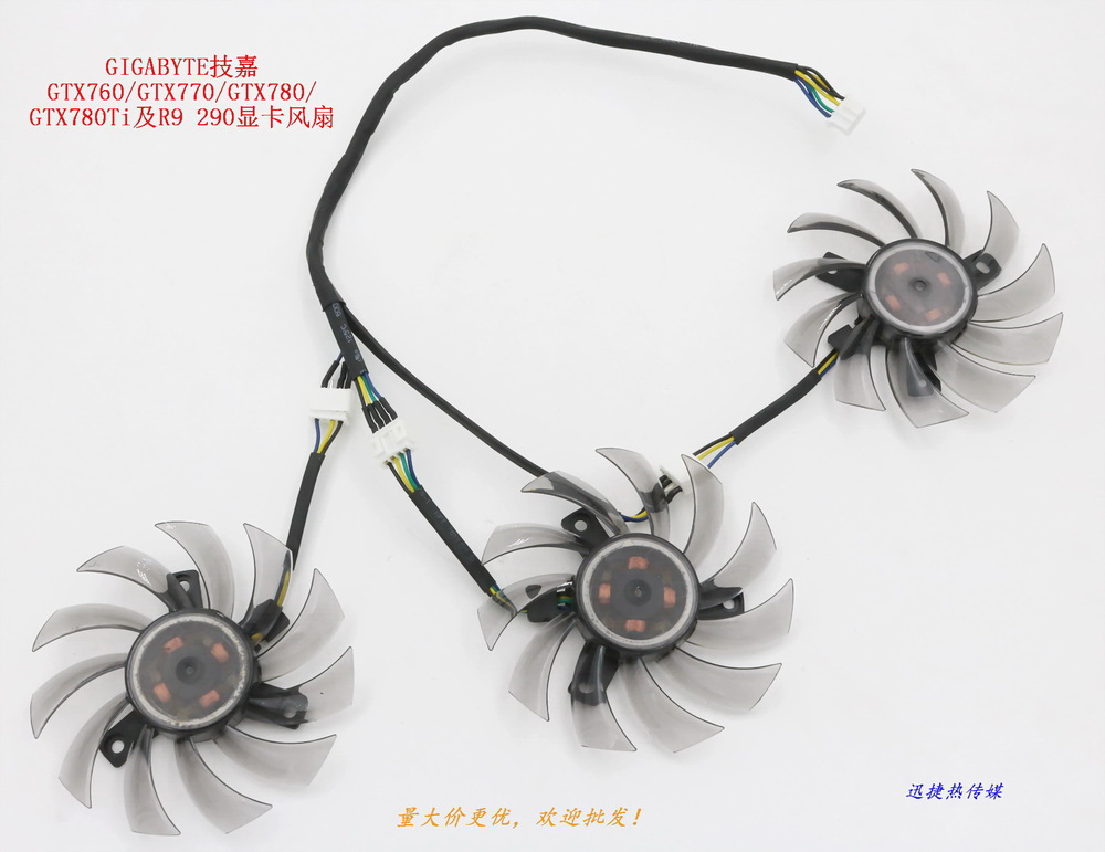 New Original for GIGABYTE GTX760 / GTX770 / GTX780 / GTX780Ti and R9 290 graphics card fan computador cooling fan replacement for msi twin frozr ii r7770 hd 7770 n460 n560 gtx graphics video card fans pld08010s12hh