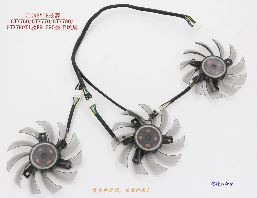 все цены на New Original for GIGABYTE GTX760 / GTX770 / GTX780 / GTX780Ti and R9 290 graphics card fan онлайн