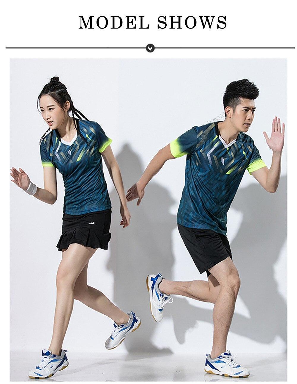 Adsmoney Mulheres Badminton Jersey Terno Homens Camisa