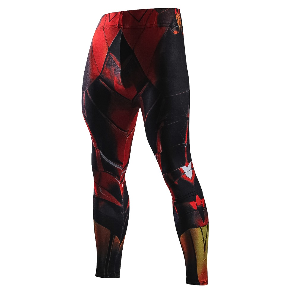 New Skinny Fitness Pants Men Ironman Compression Casual Leggings Men Elastic Breathable Crossfit Men Pants Fashion Male Trousers