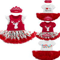 Christmas 2017 Newborn Baby Girl Clothes Sets Bebes Clothing Suits 1st Birthday Outfit Baby Romper Tutu