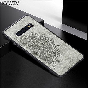 Image 4 - สำหรับ Samsung Galaxy S10 Case ซิลิโคนนุ่ม TPU ผ้า Texture Hard PC สำหรับ Samsung Galaxy S10 กลับสำหรับ samsung S10 ฝาครอบ