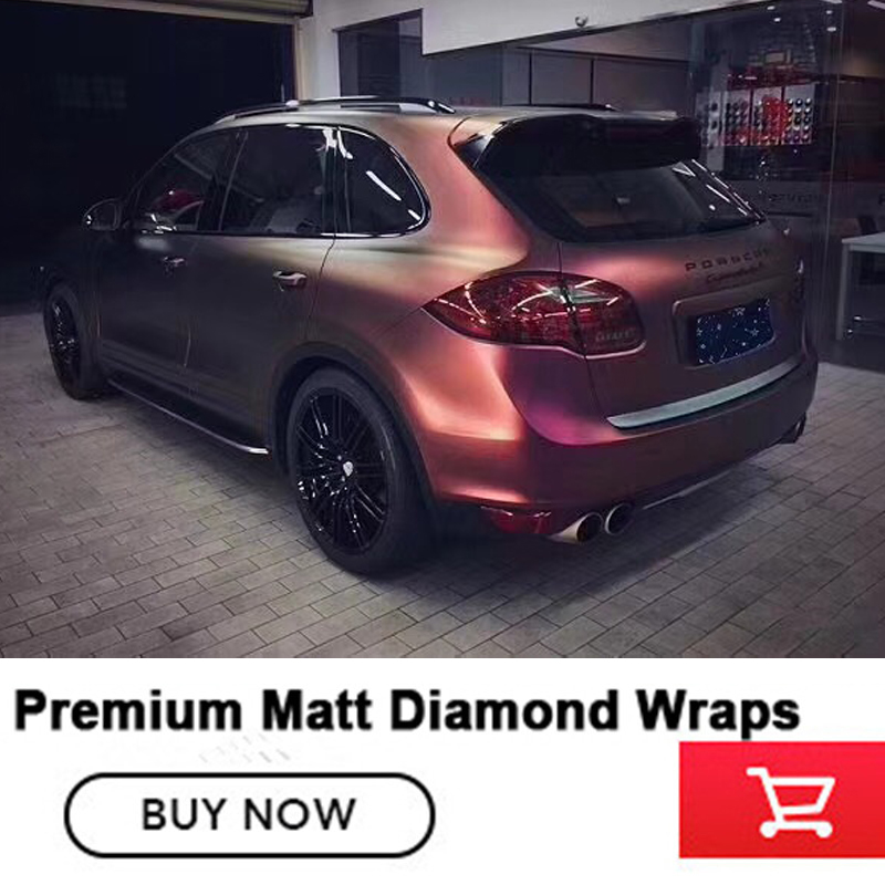 Premium series matt diamond night brown red vinyl wrap series guarantee quality diamond super glue