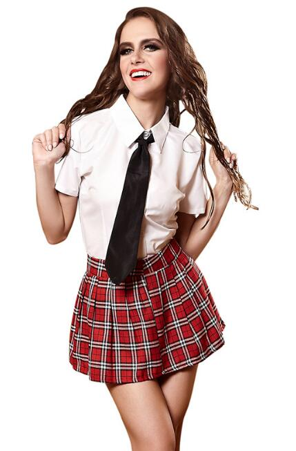 a83de0b024a US $22.33 29% OFF|Adult Naughty School Girl Costume Student Uniform Set  Women Schoolgirl Halloween Costumes-in Sexy Costumes from Novelty & Special  ...
