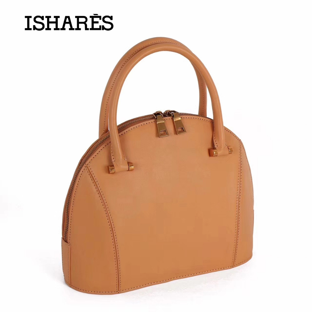 ISHARES 2018 Hot Shell Handbags Female Genuine Natural Leather Fashion Messenger bags cow leather Crossbody Bags For Lady IS9036  цена и фото