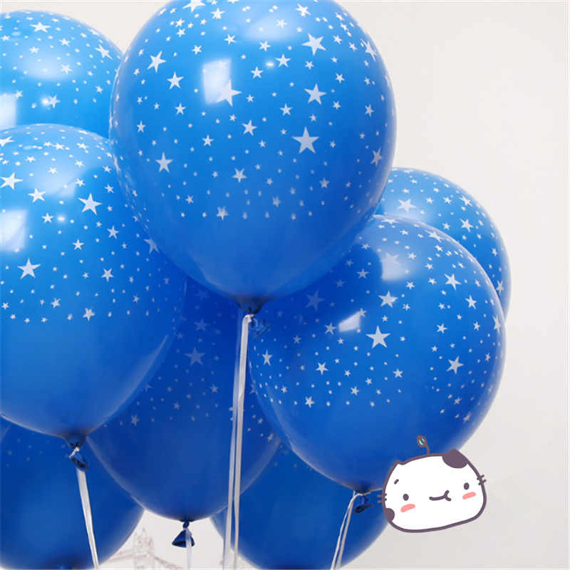 10 pcs 12 polegada estrela azul presente do chuveiro de bebê menino do balão da festa de aniversário decoração de casamento balão de látex hélio inflável ar fornecimento bola