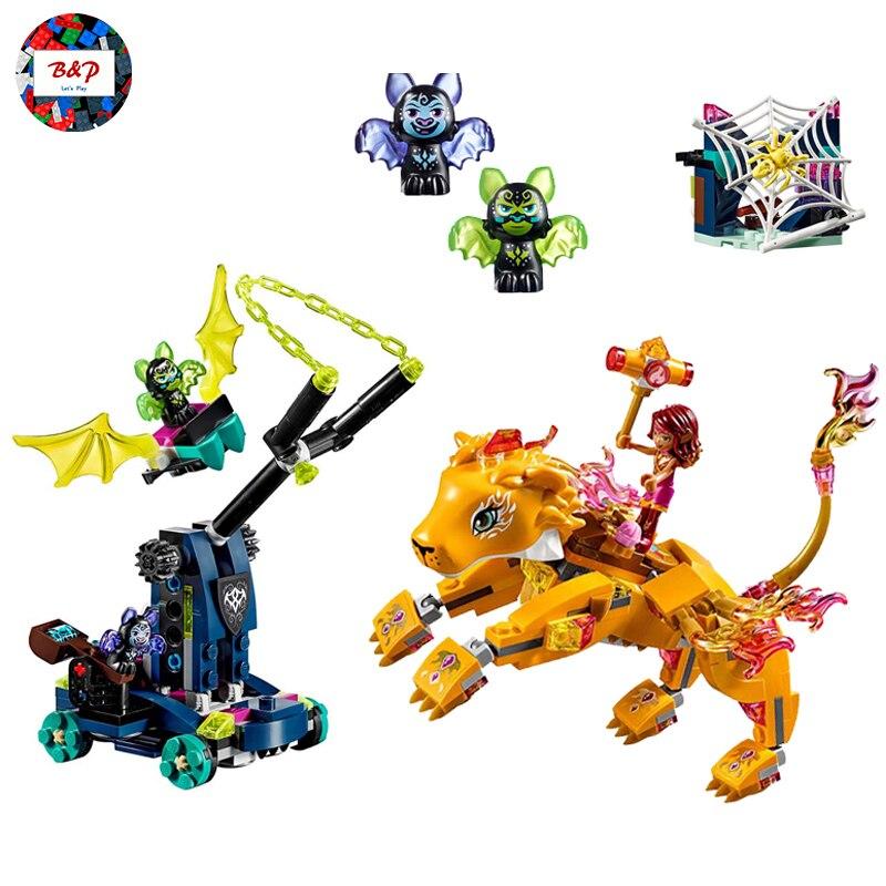 LIPEN 30016 403pcs Elves serie The Azari & the Fire Lion Capture Model Building Block Bricks Toys For children Gift 41192