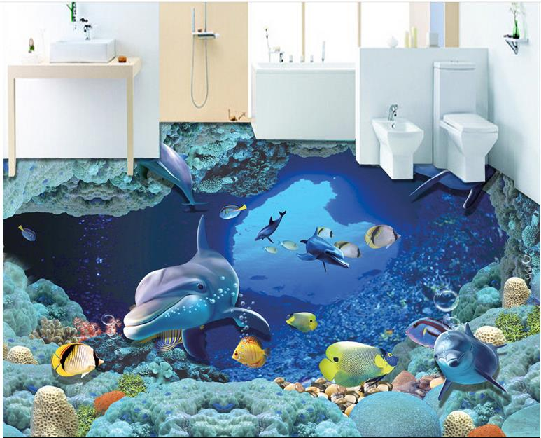 Wallpaper 3d mural waterproof floor vinyl wallpaper for Kitchen wallpaper 3d