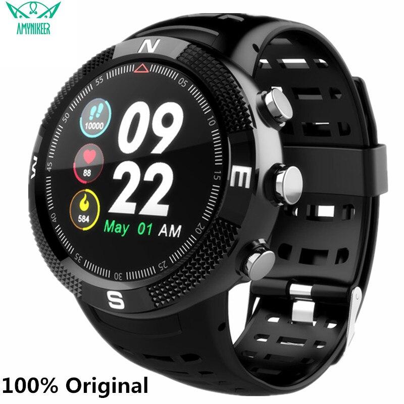 AMYNIKEER F18 smart watch GPS IP68 waterproof Bluetooth 4 2 fitness tracker multi function watch support