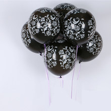 vintage balloons latex 12inches helium for Gift Craft Birthday Wedding Party baby shower favor Decoration DIY black/white Wh(China)